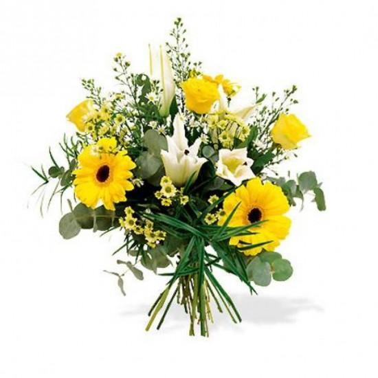 Bouquet de fleurs Vanilla and Sunshine