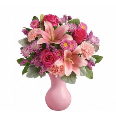 Bouquet de fleurs Lush Blush