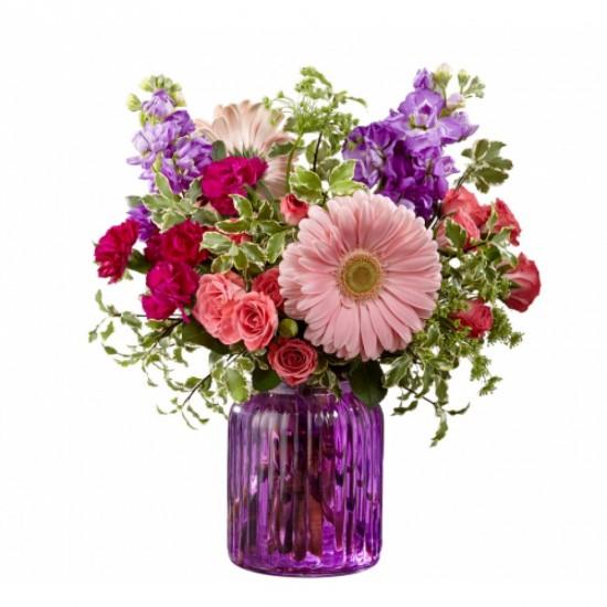 Bouquet de fleurs Purple Prose