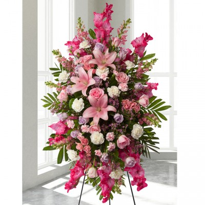Gerbe funéraire Pink Adoration