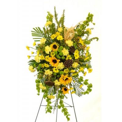 Gerbe funéraire Serene Sunflowers