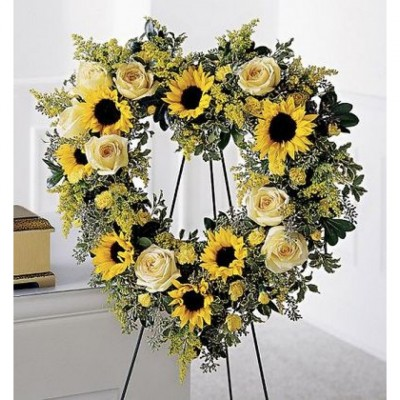 Couronne funéraire Forever Sunflowers