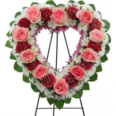 Couronne funéraire Cherished Heart