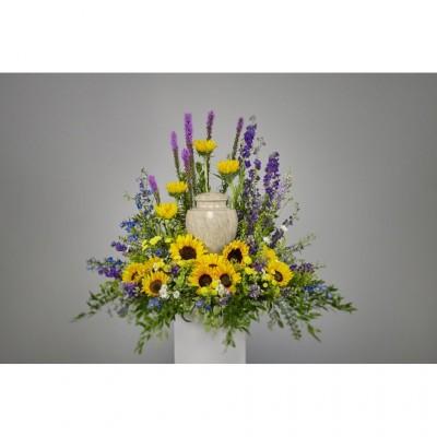 Urne funéraire Divine Sunflowers