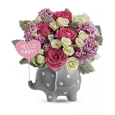 Bouquet de fleurs Baby Girl Sweet Hello