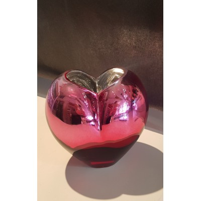 Vase coeur rosé